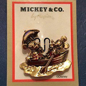 VTG Napier Mickey + Co. Mickey+Minnie Rowboat Pin
